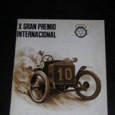 Coches y Motocicletas: 1972 - X GRAN PREMIO GP INTERNACIONAL COCHES ANTIGUOS / PROVINCIAS CATALANAS - PROGRAMA. Lote 15794766