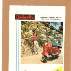 Coches y Motocicletas: QUEX - MOTOS - SCOOTER - PUBLICIDAD LAMBRETTA 1954. Lote 26744460