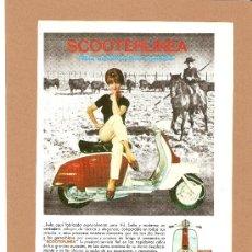 Coches y Motocicletas: QUEX - MOTOS - SCOOTER - PUBLICIDAD LAMBRETTA 1961. Lote 26818198
