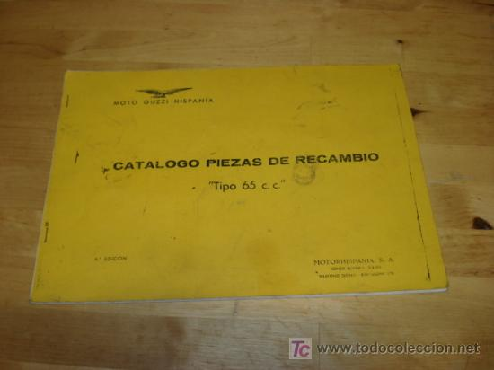 CATALOGO DE DESPIECE DE MOTO GUZZI 65. (Coches y Motocicletas Antiguas y Clásicas - Catálogos, Publicidad y Libros de mecánica)