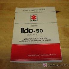 Coches y Motocicletas: LIBRO INSTRUCCIONES SUZUKI LIDO 50. Lote 122556495