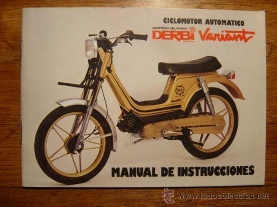 Manual de instrucciones moto derbi rabasa varia comprar for Catalogo derbi