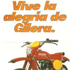 Coches y Motocicletas: LAMINA PUBLICIDAD ORIGINAL GILERA GR2.CARACTERISTICAS TECNICAS EN EL REVERSO.MOTO VESPA.. Lote 51171812