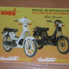 Derbi variant start sport manual usuario or comprar for Catalogo derbi