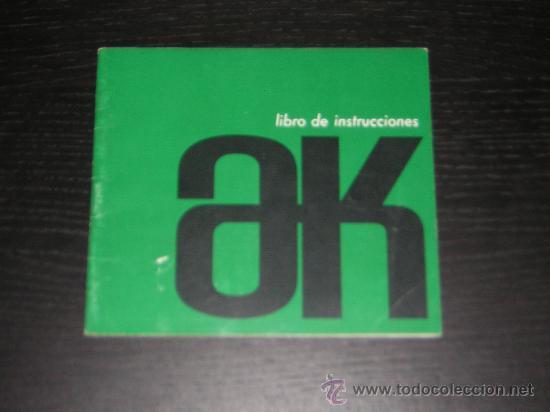CITROEN AK 2CV FURGONETA - MANUAL USUARIO ORIGINAL - 1967 - ESPAÑOL (Coches y Motocicletas Antiguas y Clásicas - Catálogos, Publicidad y Libros de mecánica)