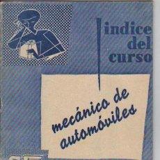 Coches y Motocicletas - ÍNDICE DEL CURSO MECÁNICO DE AUTOMÓVILES, DE CEAC - 23078434