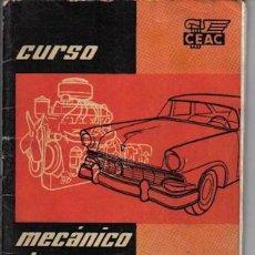 Coches y Motocicletas: CURSO MECÁNICO DE AUTOMÓVILES, DE CEAC, Nº 9. Lote 23078435