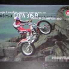 Coches y Motocicletas: MONTESA COTA 315 R TRIAL - CATALOGO FOLLETO PUBLICIDAD ORIGINAL - 2001 - ESPAÑOL / INGLES. Lote 17511998