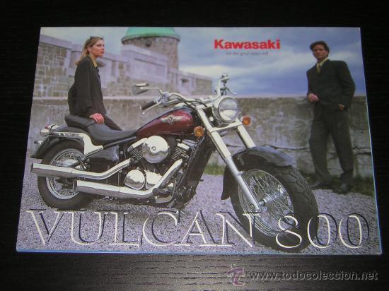 KAWASAKI VULCAN 800 VN - CATALOGO PUBLICIDAD ORIGINAL - 1998 - ESPAÑOL (Coches y Motocicletas Antiguas y Clásicas - Catálogos, Publicidad y Libros de mecánica)
