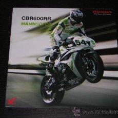 Coches y Motocicletas: HONDA CBR 600 RR HANNSPREE TEAM - CATALOGO PUBLICIDAD ORIGINAL - 2007 - ESPAÑOL. Lote 17910539