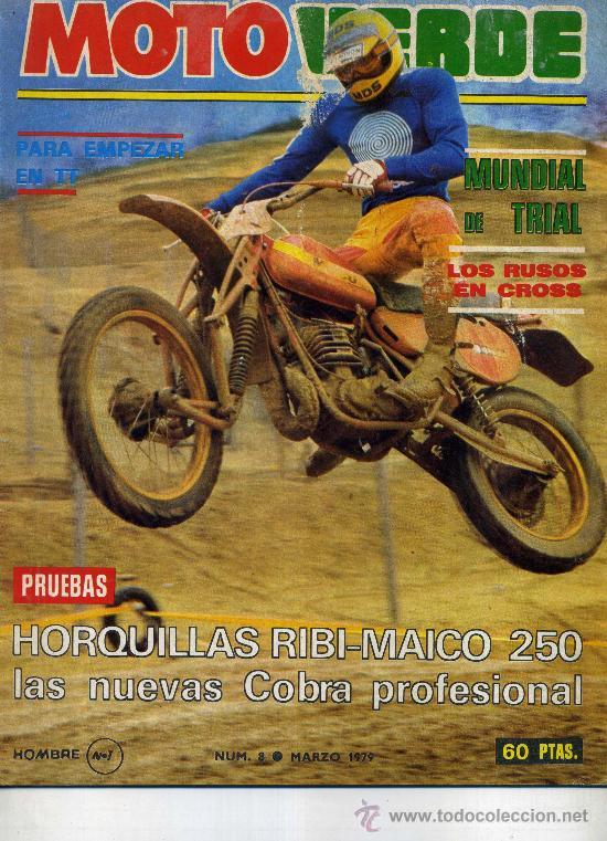 MOTO VERDE N8 MAR 79 MAICO 250 CON RIBI FABRICA PUCH COBRA PROFESIONAL SWM 370 ROTAX