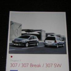 Coches y Motocicletas: PEUGEOT 307 / 307 BREAK / 307 SW - CATALOGO PUBLICIDAD ORIGINAL - 2007 - ESPAÑOL. Lote 17929093