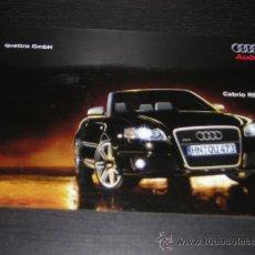 Coches y Motocicletas: AUDI CABRIO RS4 - CATALOGO PUBLICIDAD ORIGINAL - 2006 - ESPAÑOL. Lote 17982490