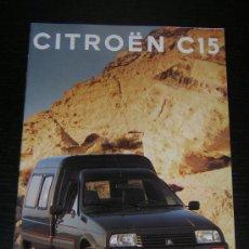 Coches y Motocicletas: CITROEN C15 - CATALOGO PUBLICIDAD ORIGINAL - 1993 - ESPAÑOL. Lote 18142784