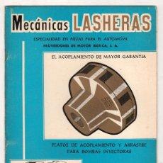 Coches y Motocicletas: CATALOGO PUBLICITARIO DE MECANICAS LASHERAS. ZARAGOZA. CON TARIFA DE PRECIOS ABRIL 1976. Lote 20036973