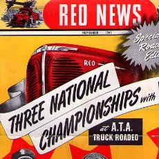Coches y Motocicletas: REVISTA CAMIONES- RED NEWS / SPECIAL ROADEO EDITION / THREE NATIONAL CHAMPIONSHIPS WITH RED / 1947. Lote 22112353
