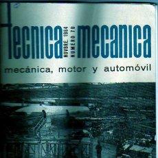 Coches y Motocicletas: LIBRO DE TECNICA MECANICA MOTOR AUTOMOVIL DE HAMSA N 70 JUNIO 1970. Lote 19341657