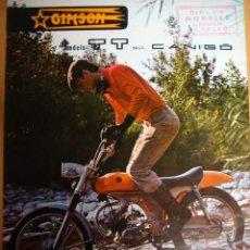 Coches y Motocicletas: CATALOGO TECNICO ORIGINAL DESPLEGABLE.CICLOMOTOR GIMSON CANIGO TT.1971.. Lote 19346303