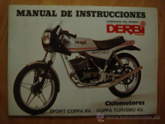 Manual de instrucciones ciclomotor derbi sport comprar for Catalogo derbi