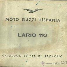 Coches y Motocicletas: MOTO GUZZI HISPANIA LARIO 110 CATALOGO PIEZAS DE RECAMBIO ORIGINAL. Lote 19819843