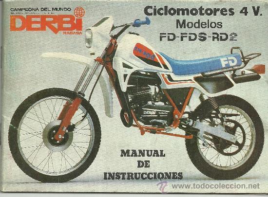 Derbi ciclomotores 4 v modelos fd fds rd manual - Sold
