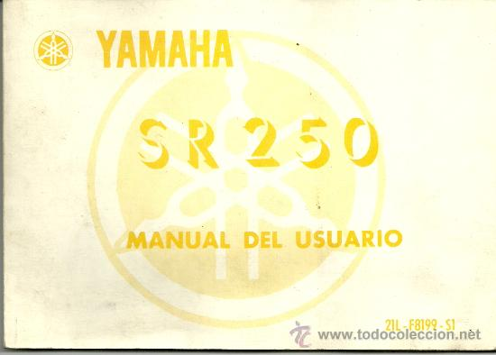 yamaha sr 250 manual del usuario original 1984 comprar cat logos rh todocoleccion net yamaha sr 250 service manual pdf manual de taller yamaha sr250