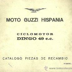 Coches y Motocicletas: MOTO GUZZI HISPANIA CICLOMOTOR DINGO 49 CC CATALOGO PIEZAS DE RECAMBIO ORIGINAL. Lote 177090113