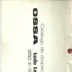 Coches y Motocicletas: OSSA CATALOGO DESPIECE TODO TERRENO 250 E-72 ENDURO ORIGINAL. Lote 19824287