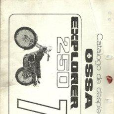 Coches y Motocicletas: OSSA CATALOGO DE DESPIECE EXPLORER 250 74 ORIGINAL. Lote 19824337