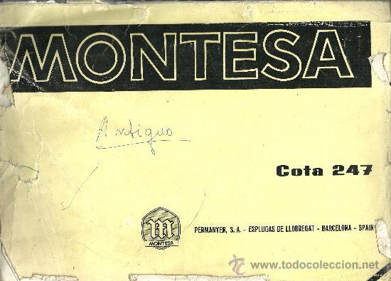 MONTESA COTA 247 PERMANYER SA ESPLUGAS DE LLOBREGAT BARCELONA SOLO PARA MECANICOS ORIGINAL (Coches y Motocicletas Antiguas y Clásicas - Catálogos, Publicidad y Libros de mecánica)