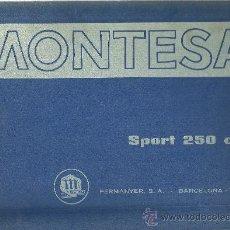 Coches y Motocicletas: MONTESA SPORT 250 CC PERMANYER SA BARCELONA SOLO PARA MECANICOS ORIGINAL. Lote 19836323
