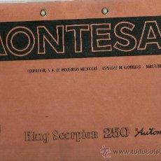 Coches y Motocicletas: MONTESA KING SCORPION 250 AUTOMIX PERMANYER ESPLUGAS DE LLOBREGAT SOLO PARA MECANICOS ORIGINAL. Lote 72194225