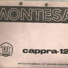 Coches y Motocicletas: MONTESA CAPPRA 125 MOTOCICLETAS ESPLUGAS DE LLOBREGAT SOLO PARA MECANICOS ORIGINAL. Lote 19836490