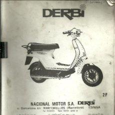 Coches y Motocicletas - DERBI SCOOTER START DS 50 SOLO PARA MECANICOS ORIGINAL - 19836623