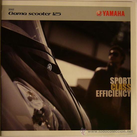 CATALOGO MOTO MOTOCICLETA YAMAHA SCOOTER GAMA 125 CC, 2007 (Coches y Motocicletas Antiguas y Clásicas - Catálogos, Publicidad y Libros de mecánica)