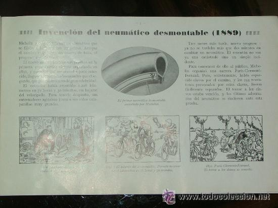 Coches y Motocicletas: CURIOSO LIBRO AÑOS 20-30 LA HISTORIA DEL NEUMATICO MICHELIN - Foto 2 - 25594451