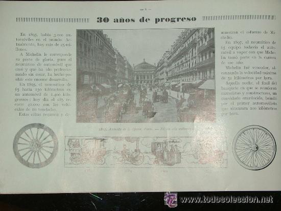 Coches y Motocicletas: CURIOSO LIBRO AÑOS 20-30 LA HISTORIA DEL NEUMATICO MICHELIN - Foto 5 - 25594451