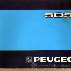 Coches y Motocicletas: LIBRO DE INSTRUCCIONES PEGEOT 505. Lote 20200976