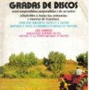 Coches y Motocicletas: FOLLETO PUBLICIDAD GRADAS DE DISCOS PARA TRACTOR TRACTOMOTOR 1978. Lote 26403408