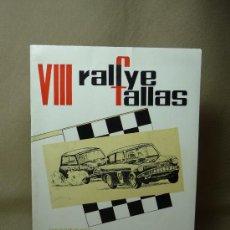 Coches y Motocicletas: PROGRAMA VIII, 8º RALLYE DE FALLAS, JUNIO 1967, 20 PAGINAS, PATOCINADORES, PEPSI, MIRINDA. Lote 20234054