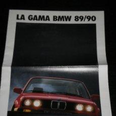 Coches y Motocicletas: BMW GAMA - CATALOGO PUBLICIDAD ORIGINAL - 1989 - ESPAÑOL. Lote 20309809