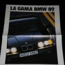 Coches y Motocicletas: BMW GAMA - CATALOGO PUBLICIDAD ORIGINAL - 1989 - ESPAÑOL. Lote 20309827