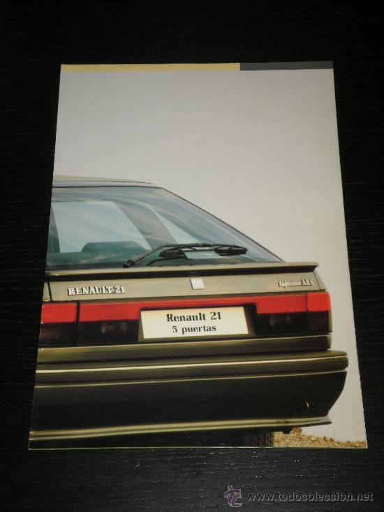 RENAULT 21 5 PUERTAS - CATALOGO PUBLICIDAD ORIGINAL - ESPAÑOL (Coches y Motocicletas Antiguas y Clásicas - Catálogos, Publicidad y Libros de mecánica)