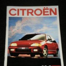 Coches y Motocicletas: CITROEN AX - CATALOGO PUBLICIDAD ORIGINAL - 1989 - ESPAÑOL. Lote 20329186