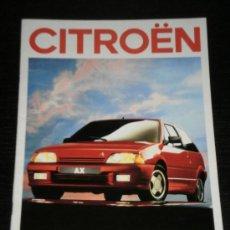 Coches y Motocicletas: CITROEN AX - CATALOGO PUBLICIDAD ORIGINAL - 1989 - ESPAÑOL. Lote 20329193