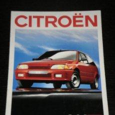 Coches y Motocicletas: CITROEN AX - CATALOGO PUBLICIDAD ORIGINAL - 1988 - FRANCES. Lote 20329207
