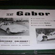 Coches y Motocicletas - FOLLETO,SEAT,-GABOR,30X21 CM. - 20439643