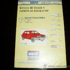 Coches y Motocicletas: MANUAL DE TALLER Y TIEMPOS DE REPARACION SEAT RITMO.TOMO II. MAYO 1984.. Lote 21219199