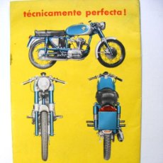 Coches y Motocicletas: DESPLEGABLE PUBLICITARIO DUCATI 125S, DE DEO CECCARELLI, ITALIA. Lote 21560895