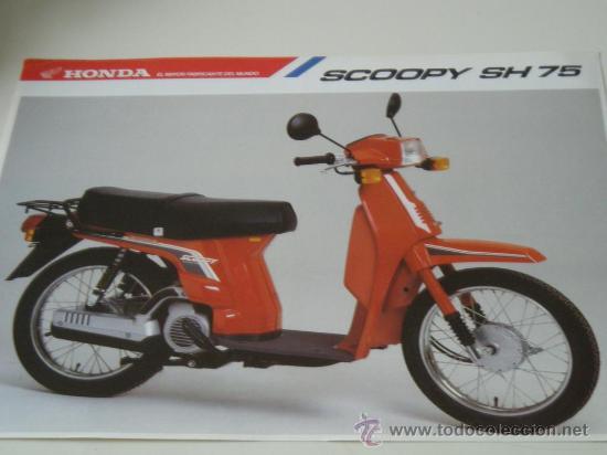 Catalogo Honda Scoopy Sh 75